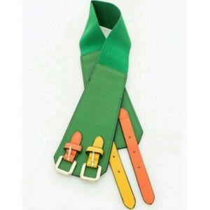 Green Double Strap Waist Belt